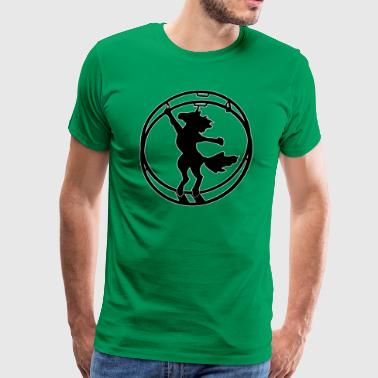 Fabulous German wheel unicorn white outline - Men's Premium T-Shirt