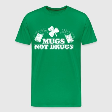 Mugs Not Drugs - Men's Premium T-Shirt