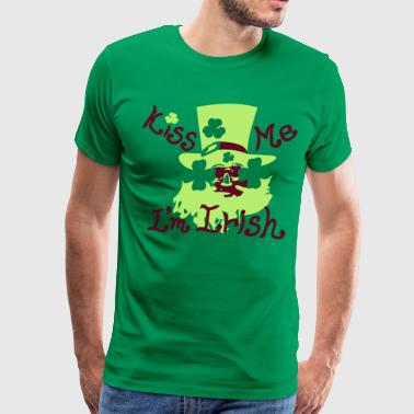 Kiss Me I'm Irish lucky charm - Men's Premium T-Shirt