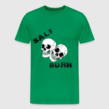 Salt N Burn New Skull Vectors Black - Men's Premium T-Shirt