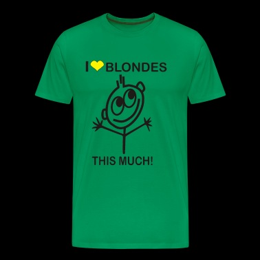 LOVE BLONDES Funny Saying - Men's Premium T-Shirt