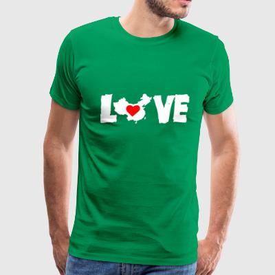 Love China White - Men's Premium T-Shirt