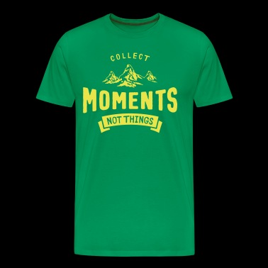 Mountains - Collect Moments not Things - Men's Premium T-Shirt
