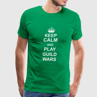 Keep Calm Play Guild Wars - Men's Premium T-Shirt