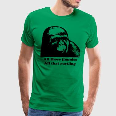 Jimmy Rustle Gorilla - Men's Premium T-Shirt