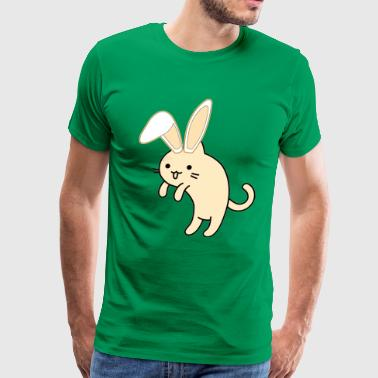 Easter Bunny Kitty Sneaking Candy - Men's Premium T-Shirt