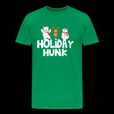 Holiday Hunk Funny Christmas Holiday T-Shirt - Men's Premium T-Shirt