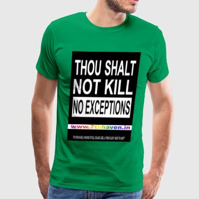 thou shalt not kill, thanks giving - Men's Premium T-Shirt