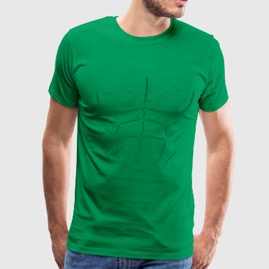 Green Abs and Muscles - Men's Premium T-Shirt