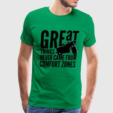great things motorcycle rider - Men's Premium T-Shirt