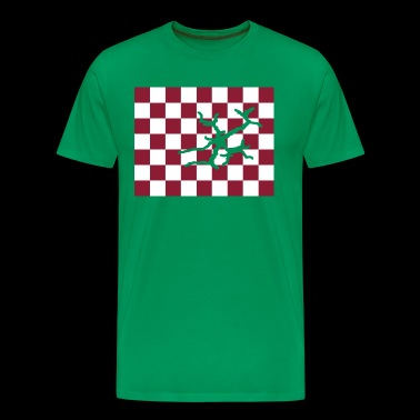 Crack in the red chessboard - Men's Premium T-Shirt