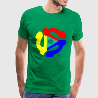 Multicolored 45 record insert - Men's Premium T-Shirt