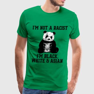Panda not a racist - Men's Premium T-Shirt