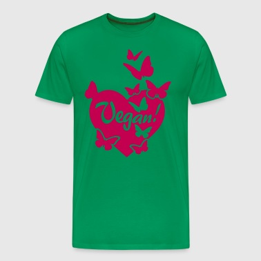 VEGAN HEART LOVE - Men's Premium T-Shirt