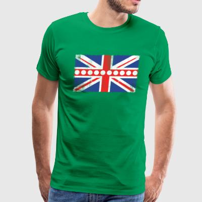 Vintage UK Flag Billard Balls + Cues Pool Billard - Men's Premium T-Shirt