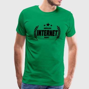 Hopeless Internet Addict Funny Addiction Gift - Men's Premium T-Shirt