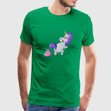 Flamingo Shit Happens Unicorn - Men's Premium T-Shirt