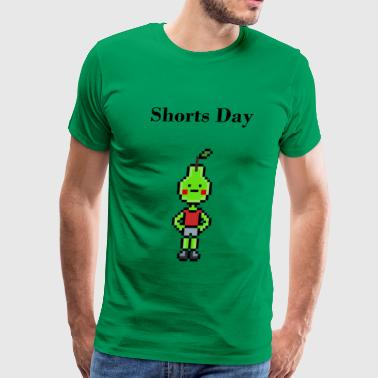 Shorts Day Pixelart - Men's Premium T-Shirt