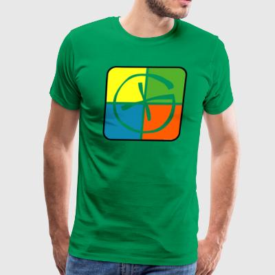 Geocache Logo - Men's Premium T-Shirt