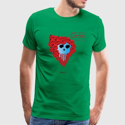 Rose Skull Punk - Men's Premium T-Shirt