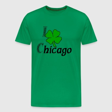 I Love Shamrock Chicago - Men's Premium T-Shirt