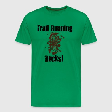 TRAIL RUNNING ROCKS - Men's Premium T-Shirt