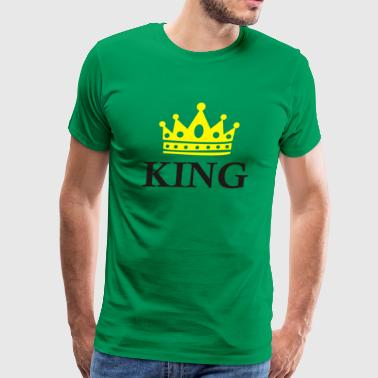 King Crown Funny Symbol - Men's Premium T-Shirt