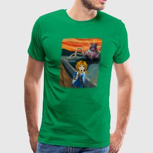 The Guardian Scream - Fuzzy Edges - Men's Premium T-Shirt