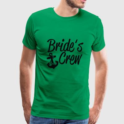 Bride s Crew Cute Anchor - Men's Premium T-Shirt
