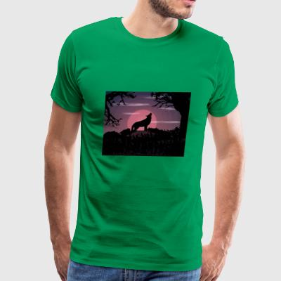 wolf moon - Men's Premium T-Shirt