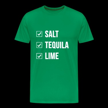 SALT TEQUILA LIME Tequila Shot Alcohol Funny Party - Men's Premium T-Shirt
