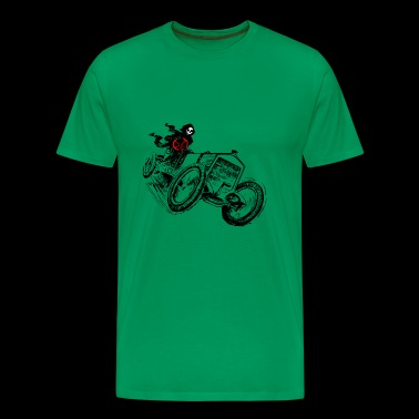 Race car, car, motocross, motor sports, skull, - Men's Premium T-Shirt