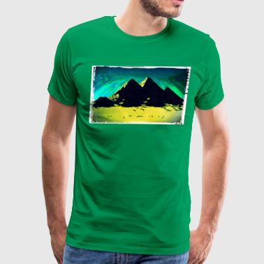 Space Pyramids - Men's Premium T-Shirt