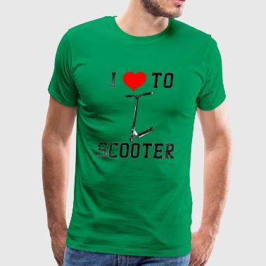Giraffe Scooters I Love To Scooter - Men's Premium T-Shirt