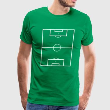Football Field Soccer Pitch Playing Field Ground - Men's Premium T-Shirt