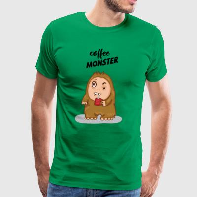 COFFEE MONSTER - Men's Premium T-Shirt