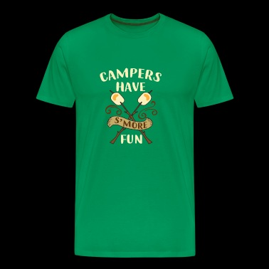 Campers Have S'more Funny Campfire Campout T-Shirt - Men's Premium T-Shirt