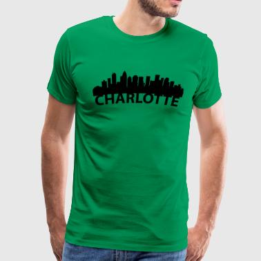 Arc Skyline Of Charlotte NC - Men's Premium T-Shirt