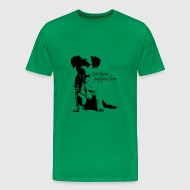 set them puppies free - Men's Premium T-Shirt