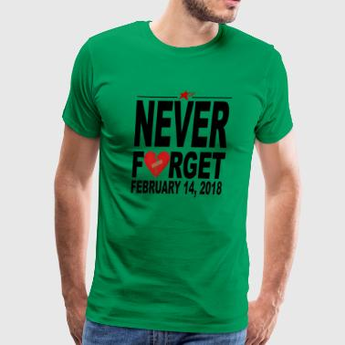 Never Forget 2-14-18 T-shirts - Men's Premium T-Shirt