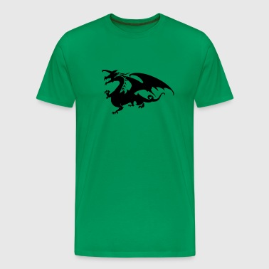 Sleek Hunting Dragon - Men's Premium T-Shirt