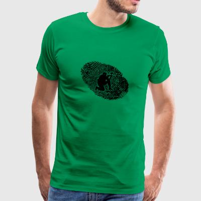 fingerabdruck dns dna geschenk paintball - Men's Premium T-Shirt