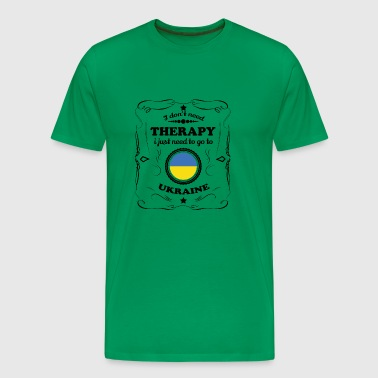 DON T NEED THERAPIE GO UKRAINE - Men's Premium T-Shirt