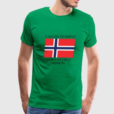 Norway Oslo LDS Mission Called to Serve Flag - Men's Premium T-Shirt