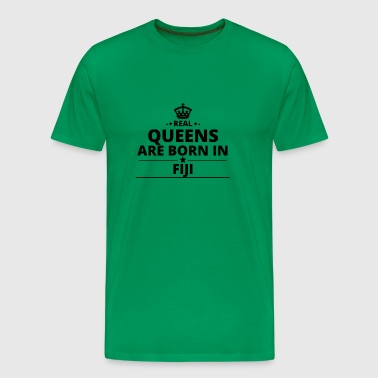 geschenk love queens are born FIJI - Men's Premium T-Shirt