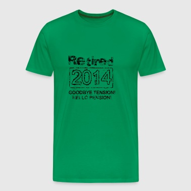 Goodbye Tension Hello Pension - Men's Premium T-Shirt
