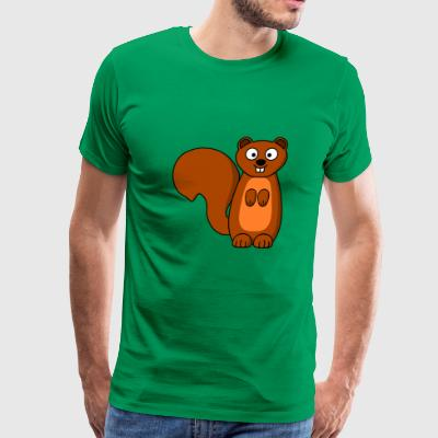 squirrel eichhoernchen animal tiere - Men's Premium T-Shirt