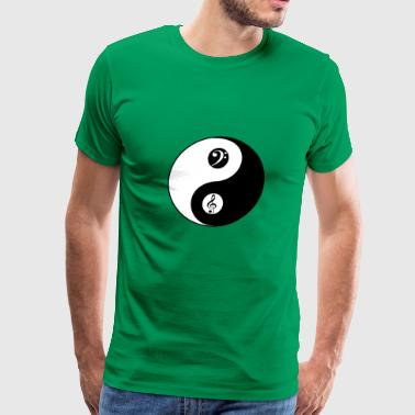 Yin and Yang Music T Shirt Gift Violin Bass Clef F - Men's Premium T-Shirt