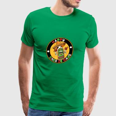 HAPPY CINCO DE MAYO, gift, party, fiesta, tequila - Men's Premium T-Shirt