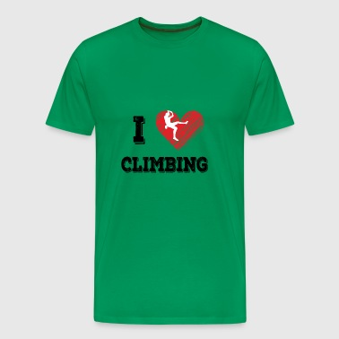 I love climbing - Men's Premium T-Shirt